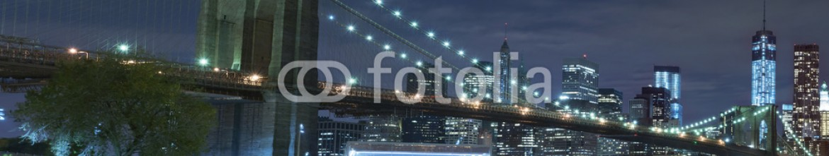 69641694 – United States of America – Brooklyn Bridge at night New York City