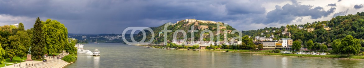 70112492 – Germany – Panorama of The Rhine in Koblenz, Germany