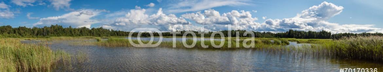 70170336 – Latvia – Panorama of the lake.