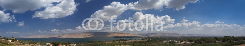 70753270 – Israel – Sea of Galilee panorama.  Israel