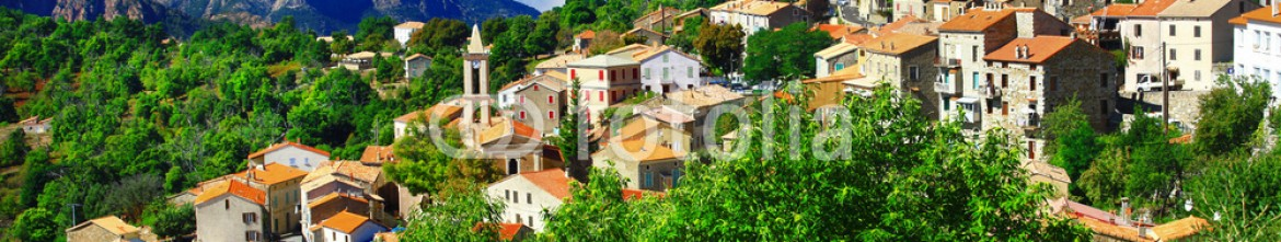 70784090 – Ukraine – breathtaking landscapes of Corsica – view of Evisa vilage