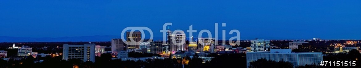 71151515 – United States of America – City light of Boise Idaho Panorama