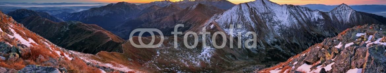 71389869 – Slovakia – Colorful sunrise mountain landscape panorama, Slovakia