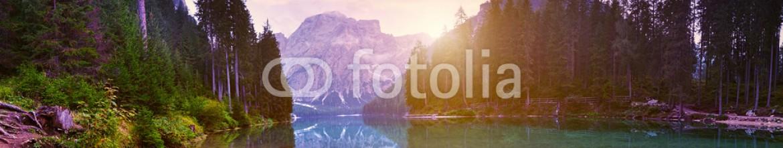 72306206 – Hungary – The beautiful  Lago Di Braies See  at dawn