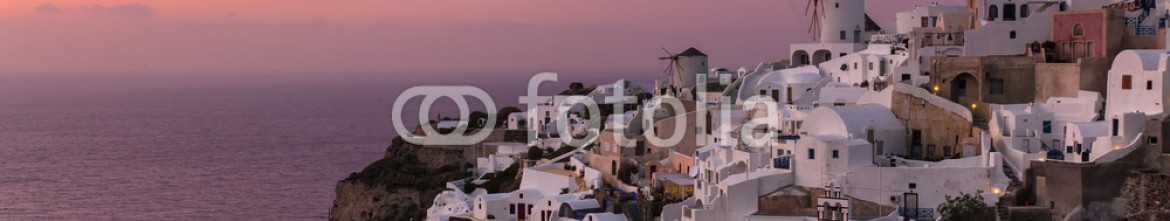 72556854 – Greece – Oia village at Sunset in Santorini Island, Greece