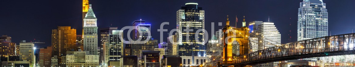 72862712 – United States of America – Cincinnati downtown panoramic overview