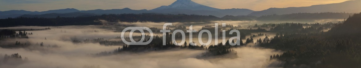72967463 – United States of America – Sunrise over Mount Hood and Sandy River One Early Autumn Morning