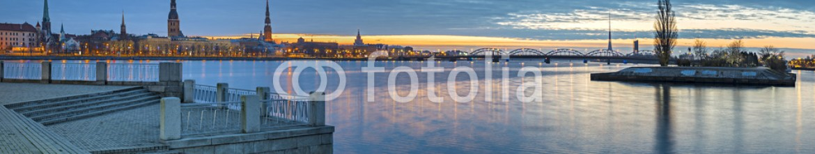 72977952 – Latvia – Panoramic view on old city of Riga, Latvia