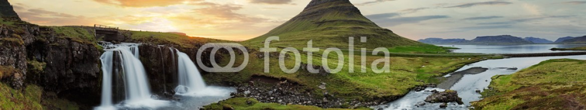 73243859 – Iceland – Iceland landscape with volcano and waterfall