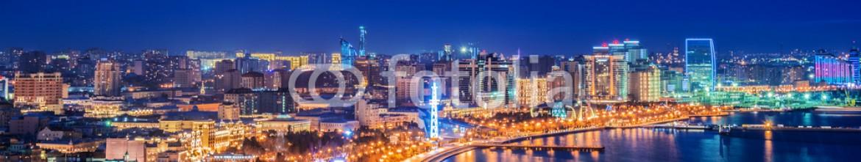 73332503 – Azerbaijan – Night view of Baku, Azerbaijan