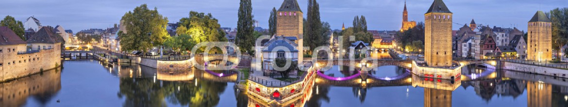 73352586 – France – Evening panorama of Pont Couverts in Strasbourg