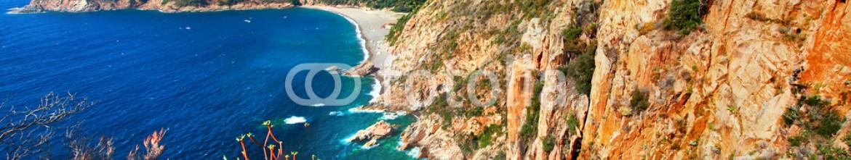 73746578 – Ukraine – impressive landscapes of Corsica – red rocks Calanques