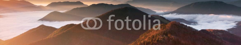 73929674 – Slovakia – Mountain sunset autumn landscape in Slovakia