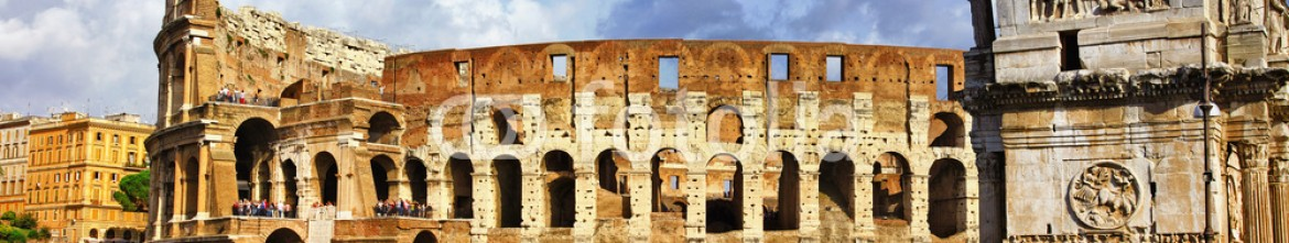 74146132 – Ukraine – great Rome, panoramic view with Colosseo