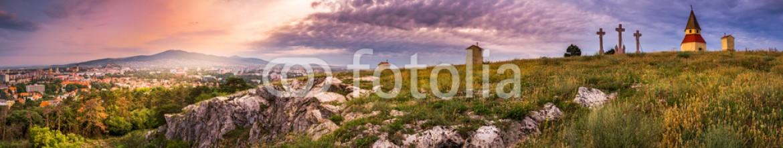 75044172 – Slovakia – Sunset and Sunray over Calvary