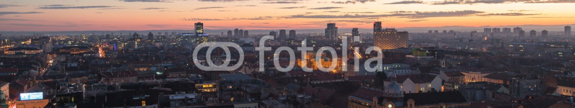 75128549 – Croatia – European city panorama at sunset – Zagreb, Croatia