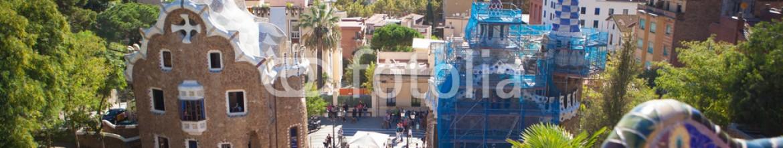 75598993 – Ukraine – Park Guell in Barcelona, Spain.