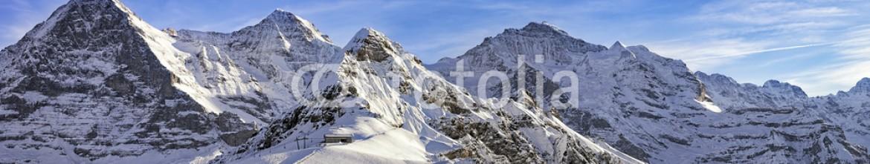 76394679 – Switzerland – Four alpine peaks and skiing resort in swiss alps