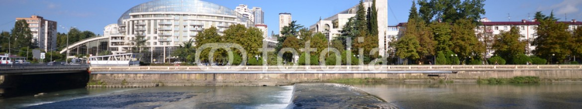 77273504 – Russian Federation – Cityscape of Sochi and river Sochi