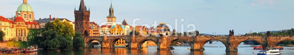 78163871 – Czech Republic – Panorama of Charles bridge in Prague, Czech republic