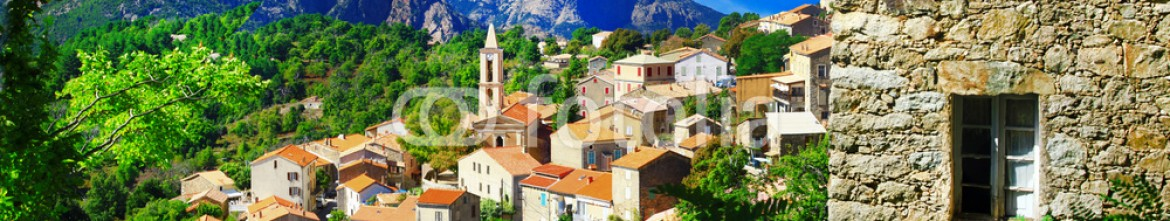 78597665 – Ukraine – stunning mountain villages of Corsica – Evisa