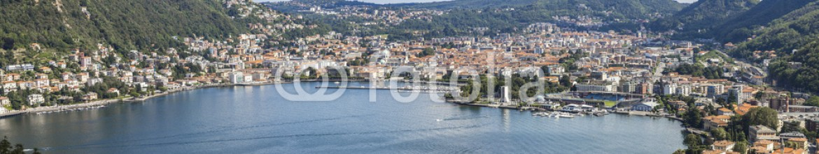 79365261 – Italy – Como: five photo for city panorama from the lake