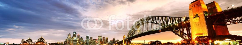 79577134 – Australia – Sydney Harbor Panorama at twilight