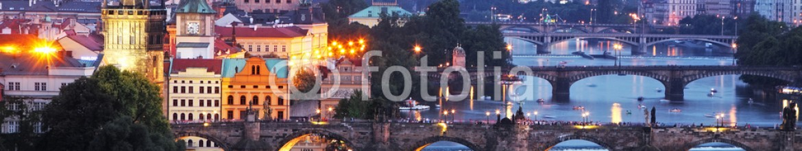 79618492 – Czech Republic – Prague cityscape at night
