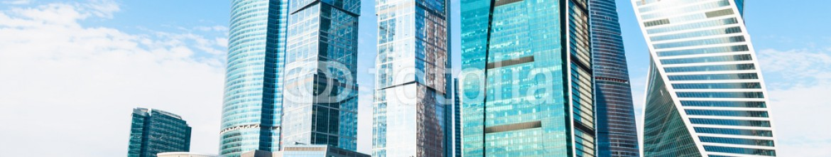 79756204 – Russian Federation – Towers of Moscow City business district in spring