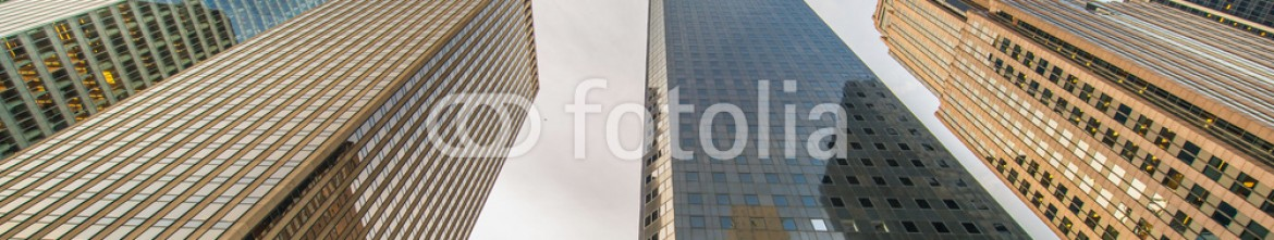 80328890 – Azerbaijan – Tall skyscrapers shot with perspective