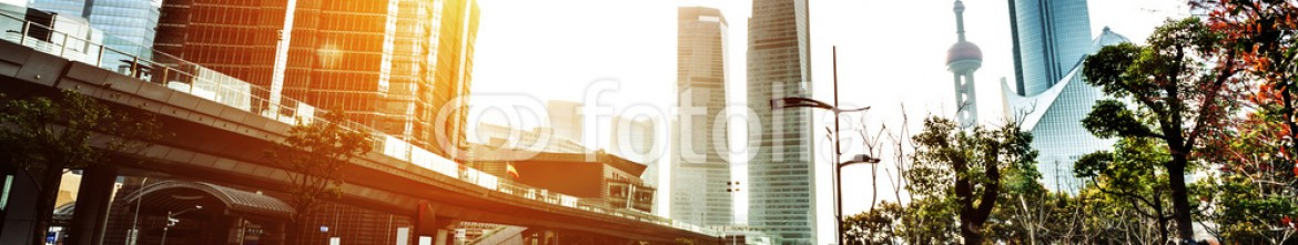81104571 – China – skyline,road, and modern buildings at sunset in shanghai.