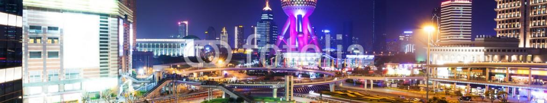 81223773 – China – skyline and illuminated cityscape of shanghai at night