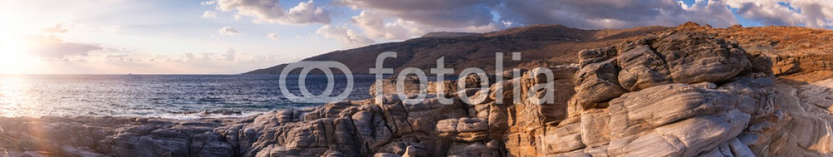 81247089 – Greece – Panoramic coastal shots of Andros island in Greece