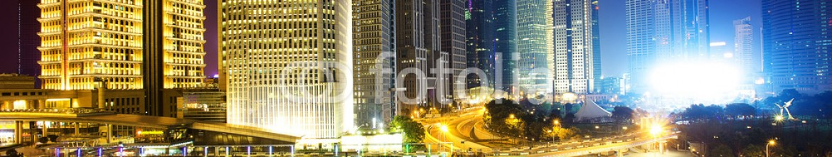 81371481 – China – Illuminated skyline and buildings in modern city