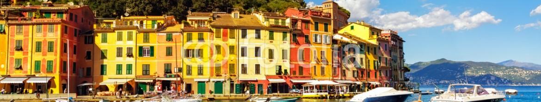 81955640 – Italy – Portofino luxury village landmark, bay harbor view. Liguria, Ita