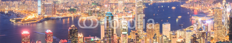 82119135 – Hong-Kong – Hong Kong skyline at night