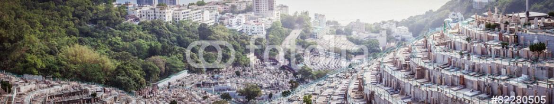82280505 – Hong-Kong – Panorama ofGraveyard in Hong Kong, Asia