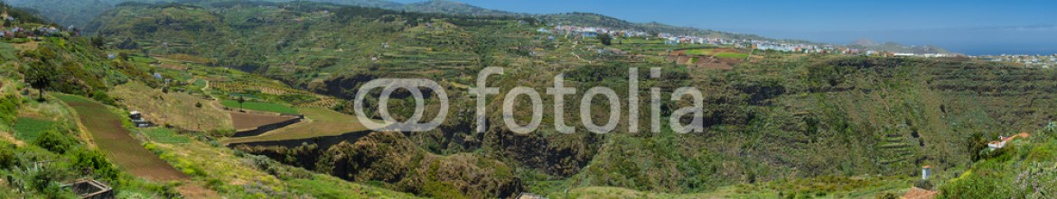83651440 – Spain – Gran Canaria, inland northern parts, panoramic view over Barranc