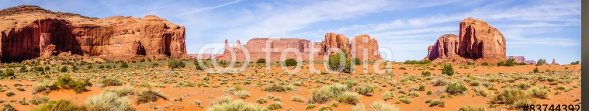 83744392 – United States of America – Monument valley under the blue sky