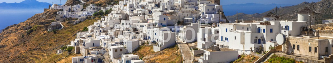 84062583 – Ukraine – Scenery of Greek islands – Serifos, view with Hora village