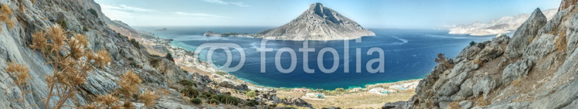 84144366 – Belarus – Panoramic view out to Telendos island from Kalymnos