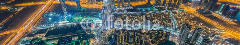 84356838 – Azerbaijan – Panorama of night Dubai during sunset