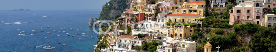 84760819 – Italy – View from above of the village of Positano on the Amalfi coast, Italy.