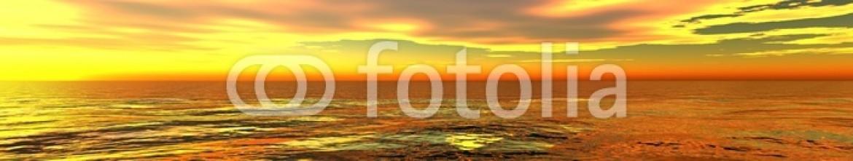 84845993 – Ukraine – incredible fiery sunset on the sea. panorama.