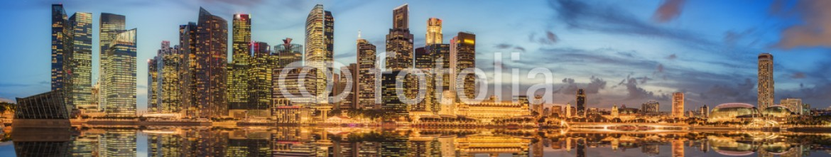 85107788 – Ukraine – Singapore Skyline and view of Marina Bay