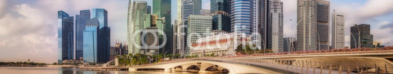 85141814 – Ukraine – Singapore Skyline and view of Marina Bay