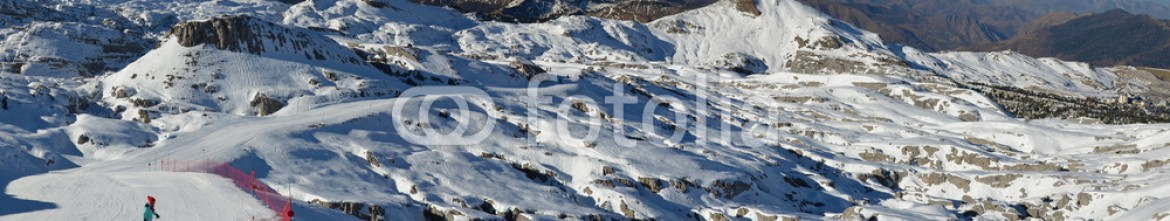85298808 – Ukraine – Panoramic view of the ski resort Pierre Saint Martin