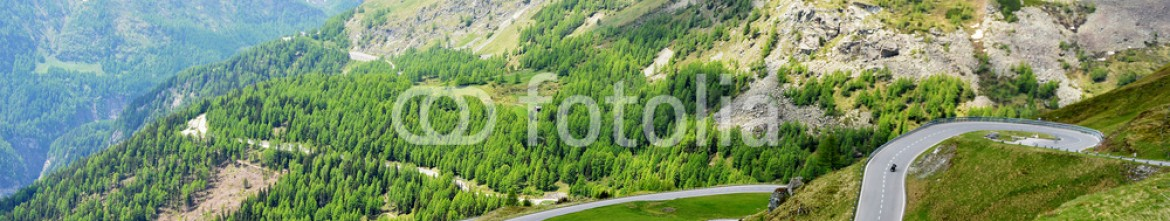 85633359 – Lithuania – serpentine mountain road