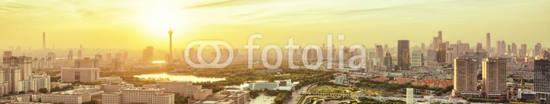 85885029 – China – Panoramic skyline and modern buildings of tianjin