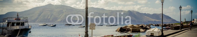 85937355 – Italy – Port of Salina, Aeolian Islands – Sicily, Italy